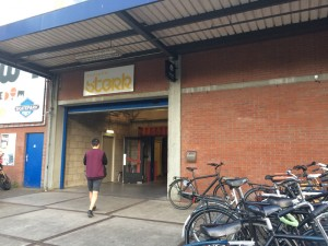 Ingang Boulderhal Sterk Utrecht.