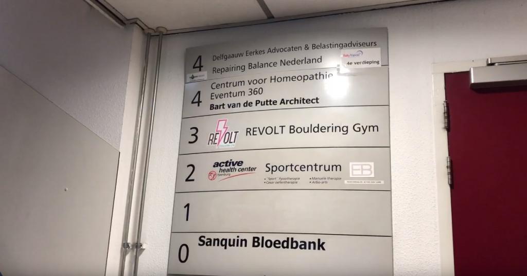 Revolt boulder gym 3e verdieping