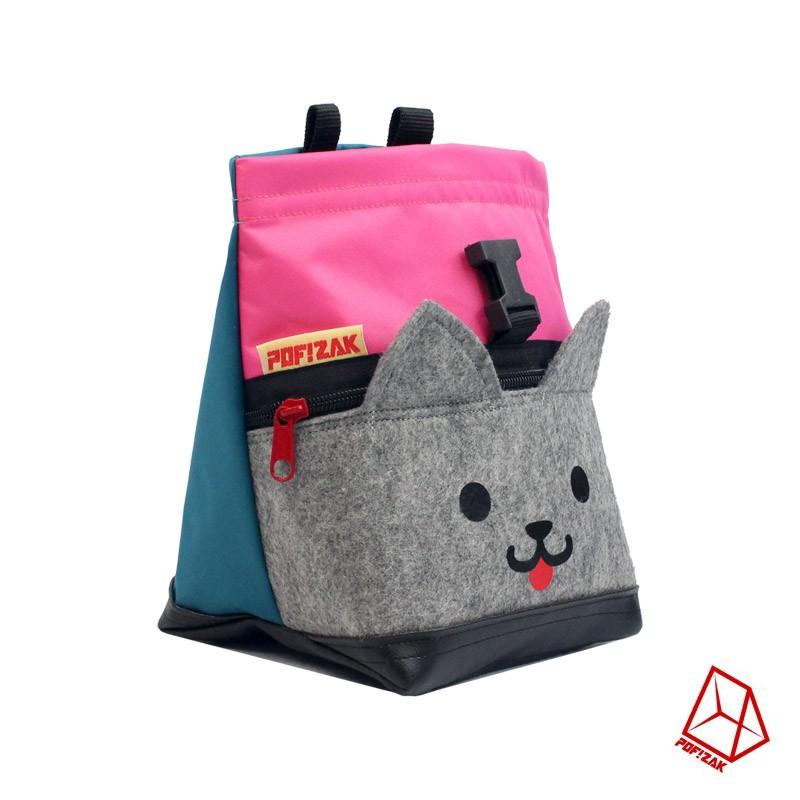 Klim pofzakje Kitten Roze / Cyaan blauw