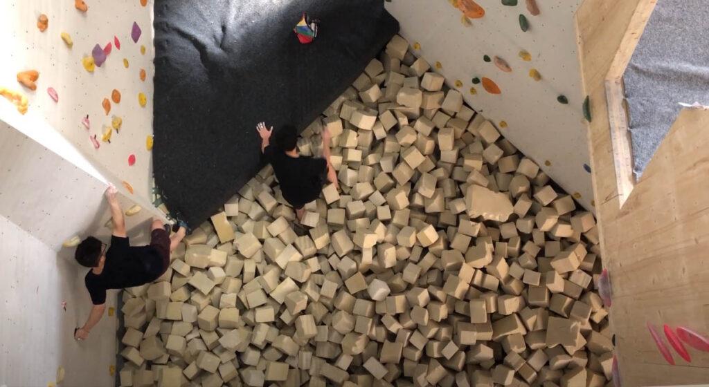 boulderen foam pit